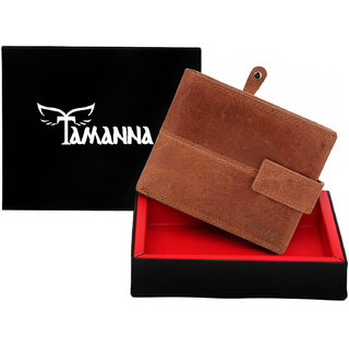 Tamanna Men Tan Genuine Leather Wallet (3 Card Slots)