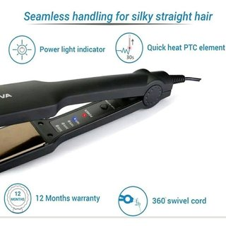 Temperature Control Professional NHS-329 Hair Straightener (color vary)
