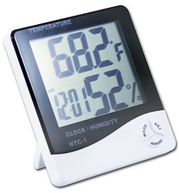 LCD Display Thermometer, Clock, and Hygrometer