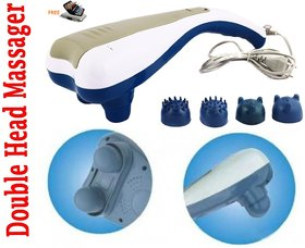 Double Dolphin Double head Body Massager With 4 Attachments + Free Aluma wallet
