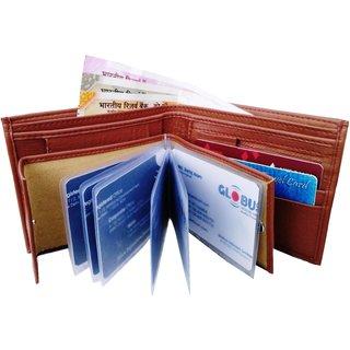 WENZEST Men Tan Artificial Leather Wallet (Chainalbum)