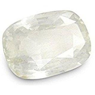 Barmunda gems Ceylon White Sapphire / Safed Pukhraj 6.25 Ratti Certified Natural Gemstonel