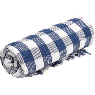 1 pcs Large Check Cotton Bath Towel (Multicolor) 75X150 cm