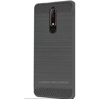 buy popular 32d7b a133c Nokia 6.1 Rugged Brushed Carbon Fiber Back Cover Case