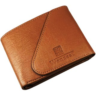 WENZEST Mens Tan Fashion Wallet with 3 Card Slots (WL-Tankaan)
