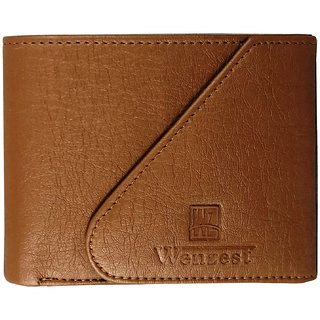 Wenzest Tan Mens Fashion Wallet with 3 cards pockets (WL-Tankaan)