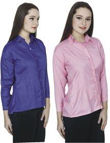 AdiRattan Crepe Shirt Combo for Girls/Women