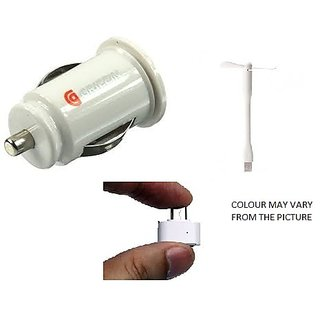 DHYAAN'S Combo of Car charger, USB Fan  OTG Adapter for car, mobile and computer