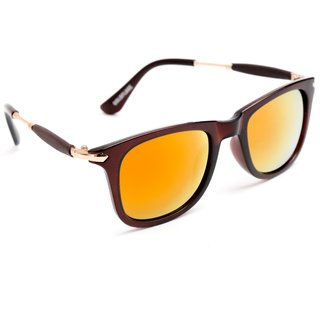 33c4b4babb TheWhoop UV Protected Mirror Orange Wayfarer Unisex Sunglasses. Orange  Mercury Goggles For Men Girls Women Boys