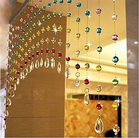 Discount4product 10 Strings String Curtain Multicolor Rainbow