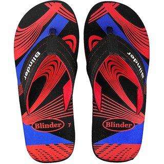 Blinder Red Comfortable Slippers And Flip-Flops For Men