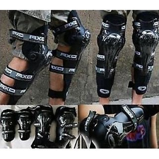 OMCY Imported Biking Elbow  Knee Guard- Set Of 4 Pcs - AXO Riding Gear for Bikers