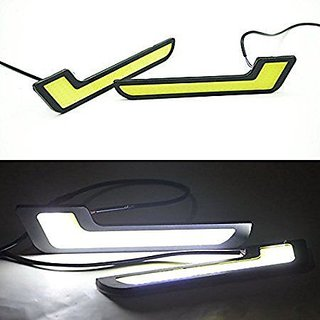 OMCY Imported 12V COB Car Styling L Shaped LED DRL Bright Daytime running Light Car Fog Light