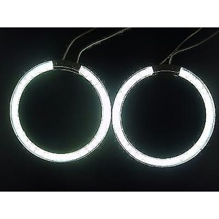 OMCY Imported 2 Pc Premium Quality Angel Eye WHITE LED Strip Light For All Bike