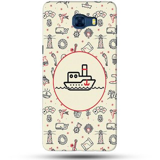 PREMIUM STUFF PRINTED BACK CASE COVER FOR SAMSUNG GALAXY C7 DESIGN 5961