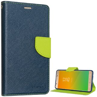 Samsung C9 ProFlipCover/ Premium Luxury Slim Artificial Leather Case for Samsung C9 Pro / Wallet Case for Samsung C9 Pro - Blue/Green By Arrowmattix