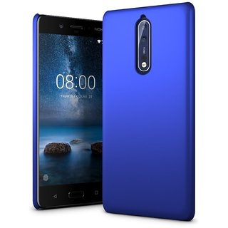 Nokia 8 Back Cover case with Free Earphone Handsfree With Audio SplitterCombo Offer By Vinnx - Blue