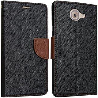 Samsung C7 ProFlipCoverMercury Case (Black&Brown) By Arrowmattix