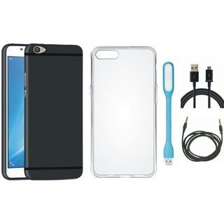 Redmi A1 Stylish Back Cover with Silicon Back Cover, USB LED Light, USB Cable and AUX Cable
