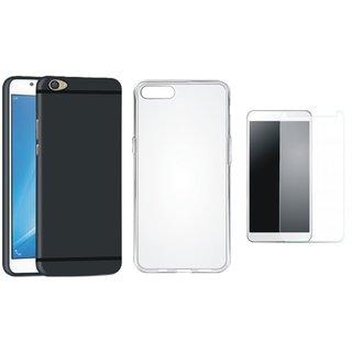 Redmi A1 Silicon Anti Slip Back Cover with Silicon Back Cover, Tempered Glass