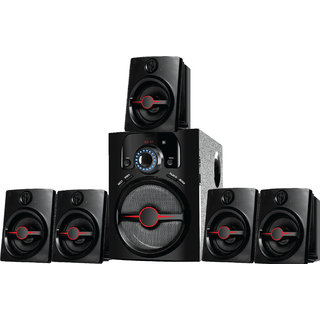 I Kall IK-444 BT Bluetooth Home Audio Speaker (Black 5.1 Channel)