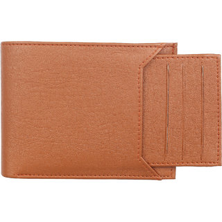 Amicraft Tan Card Artificial  Leather Men's Wallet 7 Card Slot