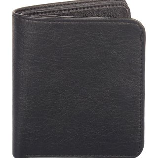 Amicraft Small Black Synthetic Leather Men's Wallet 10 Card Slot (Synthetic leather/Rexine)