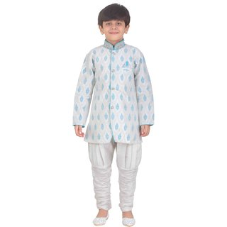 Jeet White Kurta Pyjama Suit for Boys