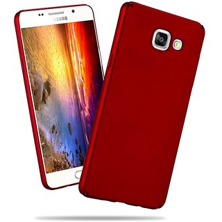 Samsung A7 2016 Back Cover case with Free Sim Adapter Combo Offer By Vinnx - Red