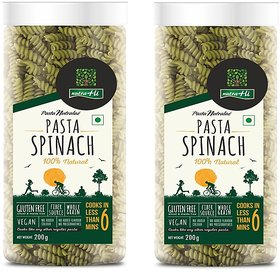 Spinach Gluten Free Pasta Pack of 2 - 200g Each - By Nutrahi