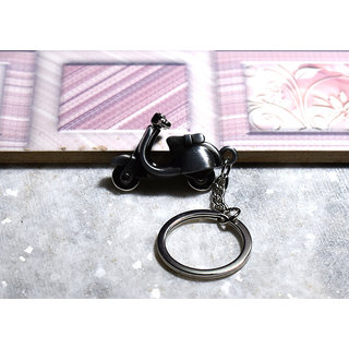 Vespa Model Alloy Metal Keychain grey color for Scooter/ Car/ Home