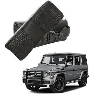Auto Addict CV Designer Black Neck Leatherite Car Pillow Cushion Kit 2 Pcs for Mercedes Benz G-Class