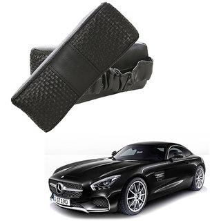 Auto Addict CV Designer Black Neck Leatherite Car Pillow Cushion Kit 2 Pcs for Mercedes Benz AMG GT