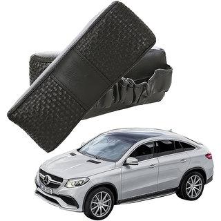 Auto Addict CV Designer Black Neck Leatherite Car Pillow Cushion Kit 2 Pcs for Mercedes Benz B-Class