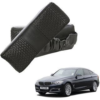 Auto Addict CV Designer Black Neck Leatherite Car Pillow Cushion Kit 2 Pcs for BMW 3 GT