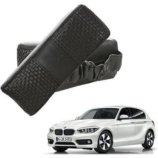Auto Addict CV Designer Black Neck Leatherite Car Pillow Cushion Kit 2 Pcs for BMW 1 Series