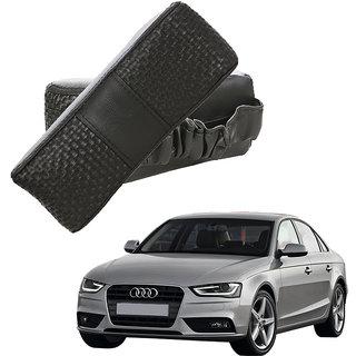 Auto Addict CV Designer Black Neck Leatherite Car Pillow Cushion Kit 2 Pcs for Audi A4