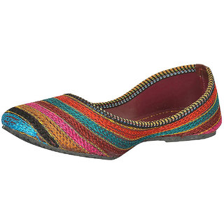 Be You Multicolor Embroideried Women's Jutti / Mojari