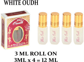 WHITE OUDH AL NUAIM ORIGINAL ATTAR LONG LASTING FRAGRANCE ROLL-ON For Men and Women