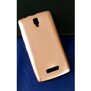 Ultra thin silicon Glossy TPU Gel Skin Case Cover for Lenovo A2010 - Rose Gold