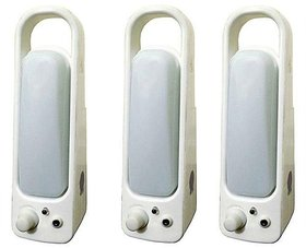 Sahu Lite Rechargeable Emergency Light - Pack of 3 with charger