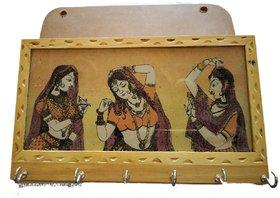 Ramani Handicraft Wooden Handicraft Wall Decor Ethnic Key Holder/Hanger Decorative Show Piece Gift