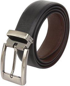 Contra Matty Casual  Formal Genuine Leather Reversible Men's Belt (Size 28-44) Cut To Fit Black/Brown Belt)
