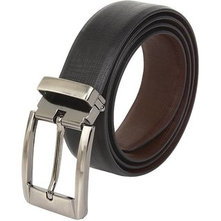 Contra Matty Casual  Formal Genuine Leather Reversible Men's Belt (Size 28-44) Cut To Fit Black/Brown Belt) (Synthetic leather/Rexine)