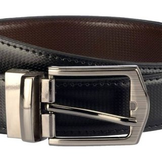 Reversible Leather Black/Brown  Adjustable Automatic Buckle Belts Casual and Formal - Belt For Men and Boys, color Design For Daily Use -gifts for men (Synthetic leather/Rexine)