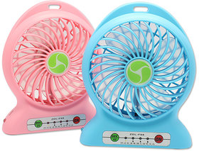Mini Usb Charging Fan Rechargeable Battery Operated Led