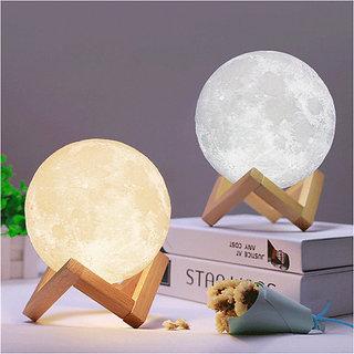 3D Moon Lamp India / Moon Shaped Lamp / LED Moon Lamp / Lunar moonlight lamp - Multi Color - 14CM