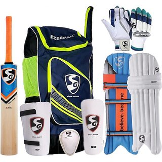 SG CRICKET KIT WITH EEAZEEPACK KIT BAG SIZE 5