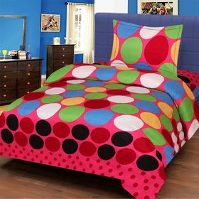 Modern Home 3D Bedsheet Single With 1 Pillow cover