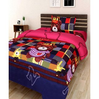 Kids Single Bedsheet With 1 Pillow cover